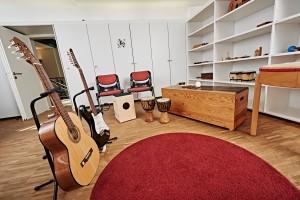 Der Musiktherapieraum